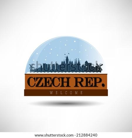 czech republic  city skyline