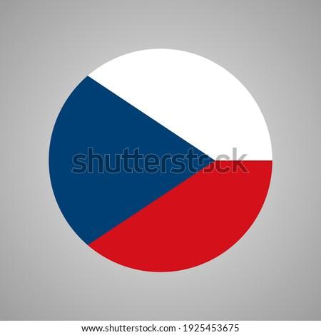 Czech Republic Flag Vector, Flag Of Czech Republic. Foto stock ©