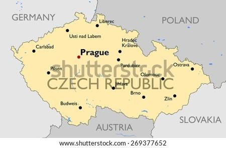 Free Czech Republic Map Vector Download Free Vector Art Stock - Czech republic map