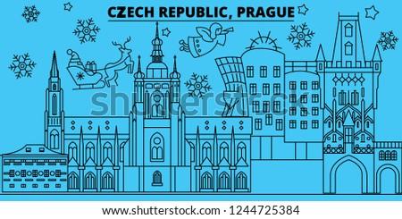 czech republic  prague winter