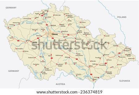 czech republic road map