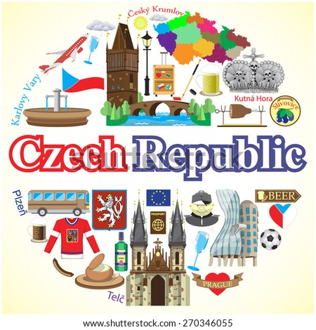 czech republic round background