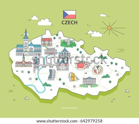 czech travel landmark collection