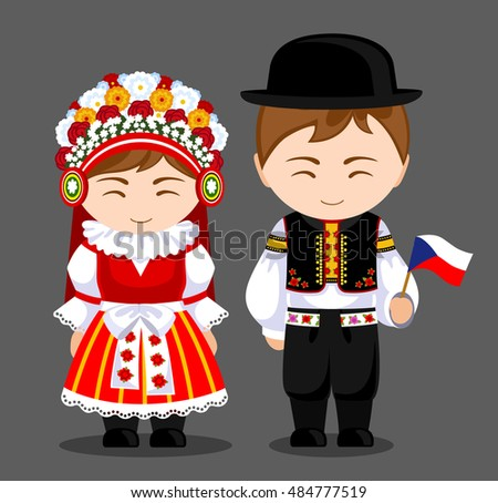 czechs in national dress with a