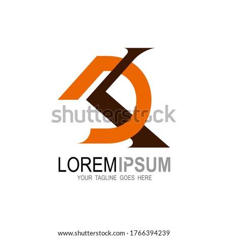 D and K logo template, DK logo design combination, KD, K +  DK logo design company Stock fotó ©