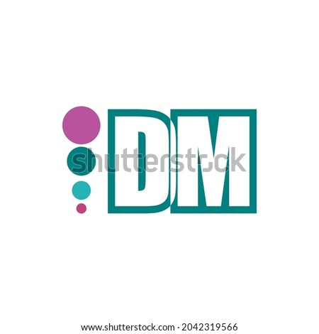 D and M vector letter logo eps 10 Photo stock ©