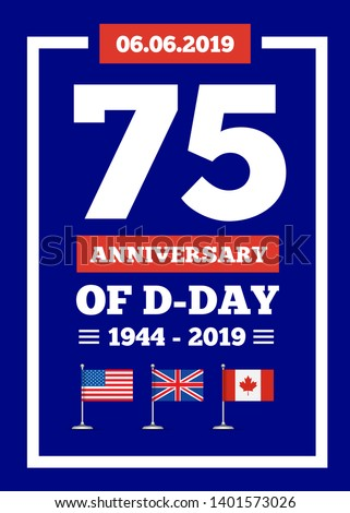 d day 75th anniversary of the