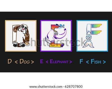 d e f letter   character letter