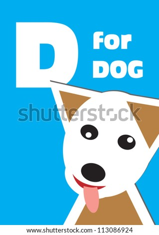 D for the Dog, an animal alphabet for the children