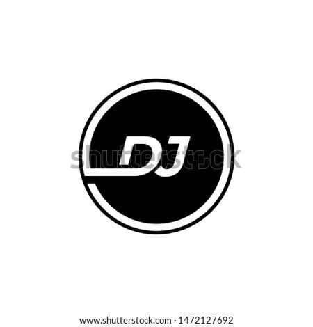 D J logo design vector Stock fotó ©