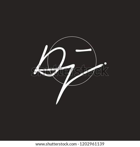 D J Signature initial logo template vector Stock fotó ©