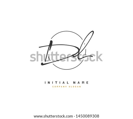 D  L DL Beauty vector initial logo, handwriting logo of initial signature, wedding, fashion, jewerly, boutique, floral and botanical with creative template for any company or business. Stock fotó ©