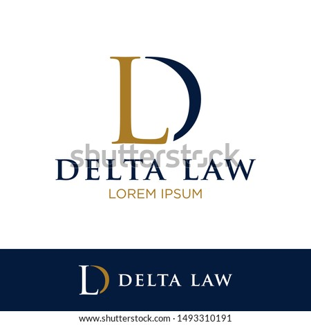 D L Initial Letter Icon Vector. Law Firm Logo Template. Stock fotó ©