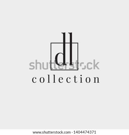 D,L vector logo. DL logo. Business logo. D,L letters monogram Stock fotó ©