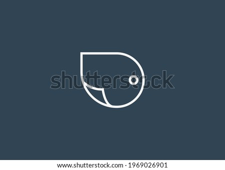 D Letter Initial Abstract Document Logo Design. Illustration of D Letter Minimalist with paper. Vector Design. Zdjęcia stock ©