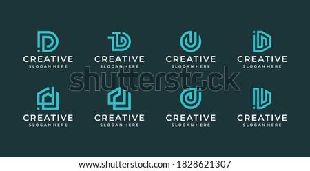 d letter logo illustration