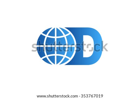 World map 3d silhouette vector download free vector art stock d letter logo world globe logo design gumiabroncs Images