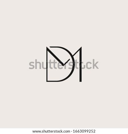 D & M monogram fashion logo with feminine luxury looks Stok fotoğraf ©