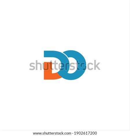 D O letter logo vector design on white color background. do icon Foto stock ©