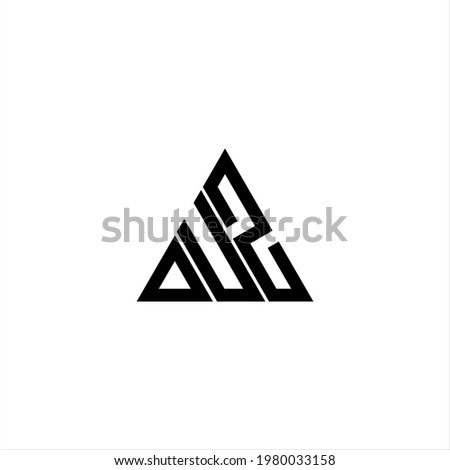 D U Z letter logo creative design. DUZ icon Stok fotoğraf ©