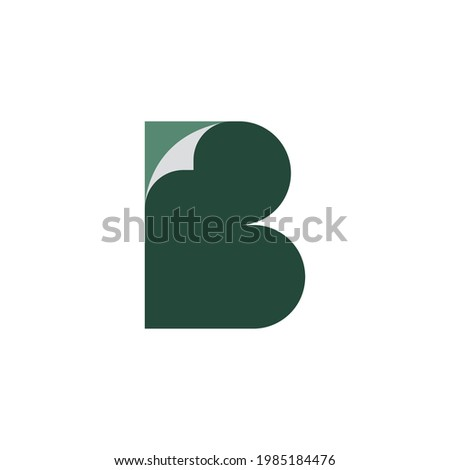 D with paper illustration logo design  vector template Zdjęcia stock ©