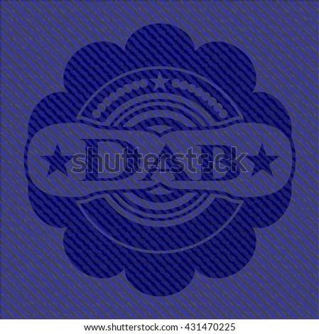 Dab emblem with denim high quality background
