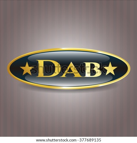 Dab golden badge or emblem