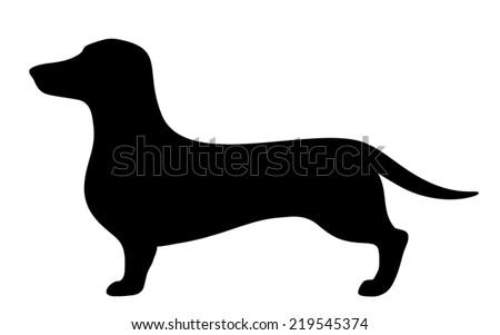 dachshund dog vector black
