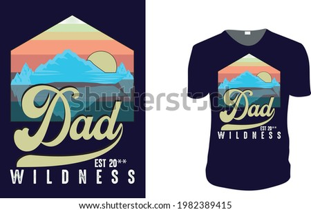 Dad Est. father's day T-Shirt, father's day Vector graphic for t shirt. Vector graphic, typographic poster or t-shirt. father's day style background, logo.  Foto stock ©