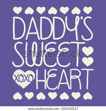 daddy's sweet heart kids tshirt