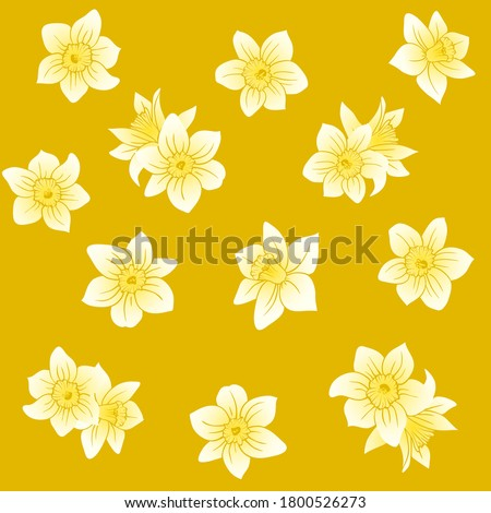 daffodil blossom seamless