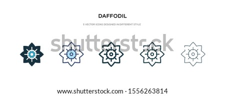 daffodil icon in different