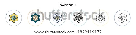 daffodil icon in filled  thin