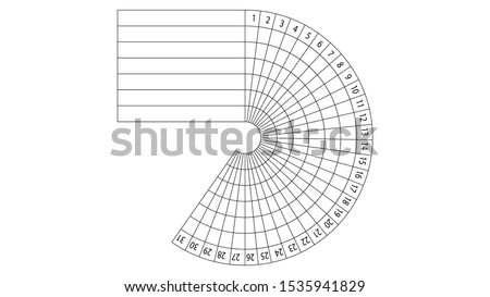 Daily habit tracker for 31 days vector design Stock photo ©