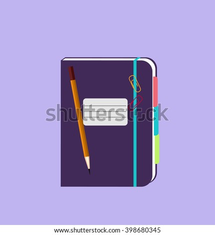 daily notepad isolated design
