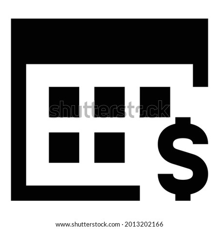 Daily payouts icon on the white background. Stock photo ©