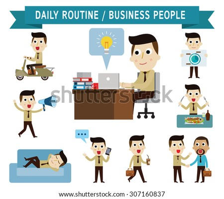 daily routine set of full body