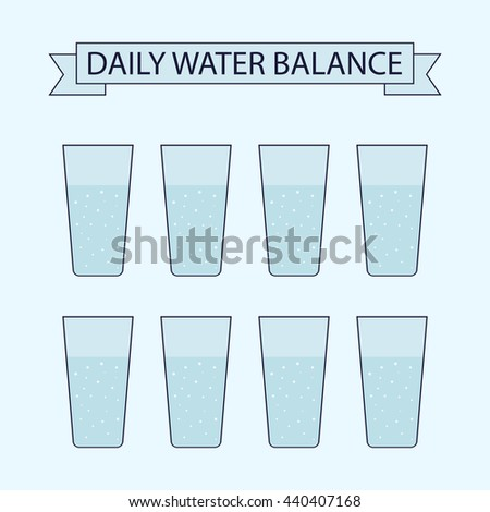 daily water balance vector