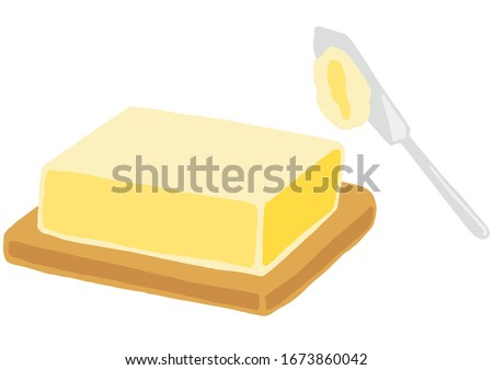dairy produce, butter and butter knife