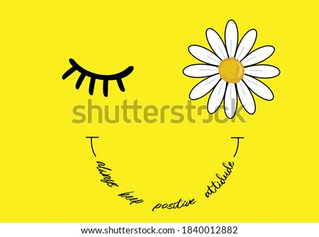 daisy and butterfly there is a sun in every daisy vector illustration design for fashion graphics, t shirt prints, posters etc stationery,mug,t shirt,phone case  fashion style trend spring summer