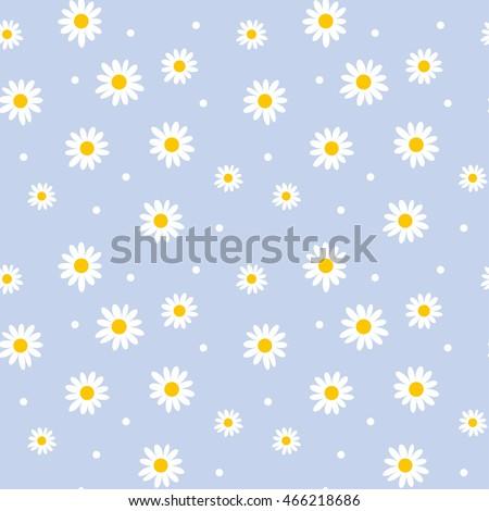 daisy cute seamless pattern