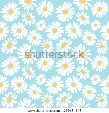 Daisy flower vector pattern illusration floral background