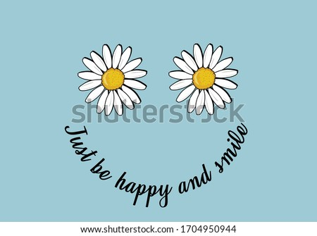 daisy positive quote flower design daisy positive quote flower design flower hand drawn vector design always take the scenic route quote adventure  with blue background
