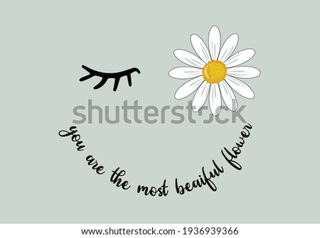 daisy smile daisy spring dreamer butterflies and daisies positive quote flower design margarita  mariposa stationery,mug,t shirt,phone case fashion slogan  style spring summer sticker