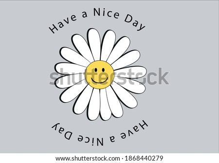 daisy smile face emoji design