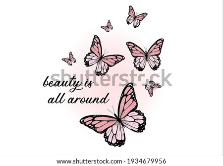 daisy spring dreamer Monarch Butterflies positive quote flower design margarita  mariposa stationery,mug,t shirt,phone case fashion slogan  style spring summer sticker Tawny Orange Monarch Butterfly