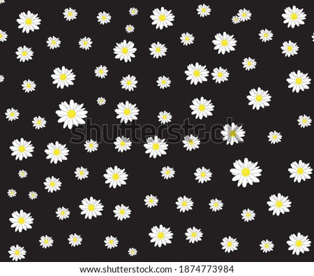 daisy template black and white