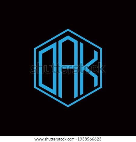 DAK polygon letter icon design on BLACK background.Creative letter DAK - D A K logo design. DAK initials Polygon Logo design. Stockfoto ©