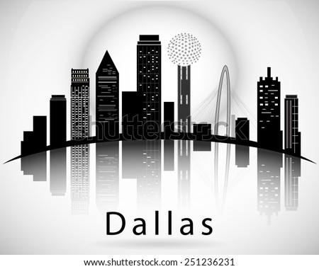 dallas silhouette  texas united
