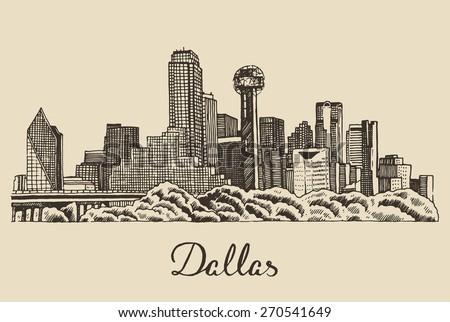 dallas skyline  big city...